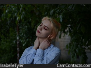 Webcam model IsabelleTyler from CamContacts