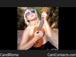 Webcam model CandiRoma from CamContacts