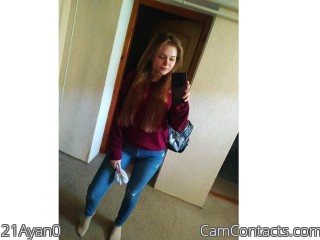 Webcam model 21Ayan0 from CamContacts