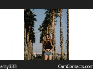 Webcam model anty333 from CamContacts