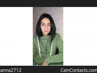 Webcam model anna2712 from CamContacts