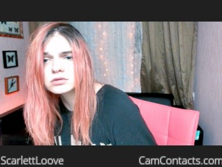 Webcam model ScarlettLoove from CamContacts