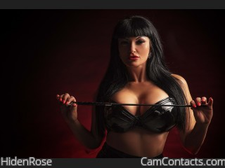 Webcam model HidenRose from CamContacts