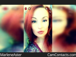 Webcam model MarleneAster from CamContacts