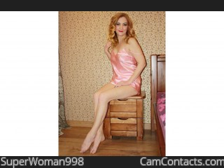 Webcam model SuperWoman998 from CamContacts