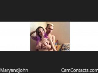 Webcam model MaryandJohn from CamContacts
