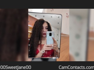 Webcam model 00SweetJane00 from CamContacts