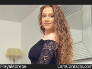 Webcam model FreyaMonroe from CamContacts