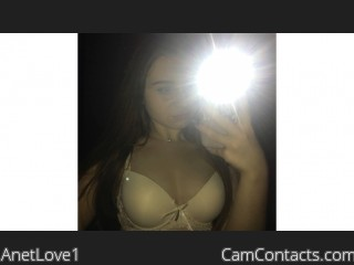 Webcam model AnetLove1 from CamContacts