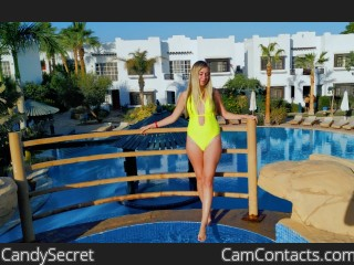 Webcam model CandySecret from CamContacts