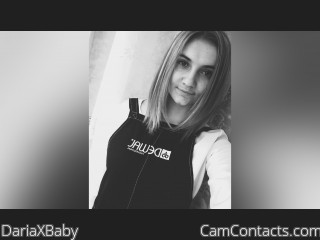 Webcam model DariaXBaby from CamContacts