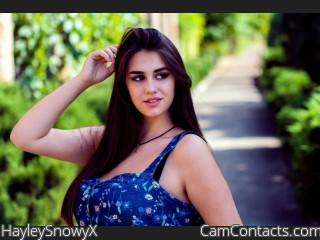 Webcam model HayleySnowyX from CamContacts