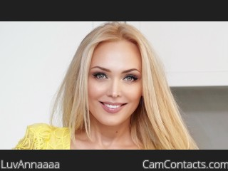 Webcam model LuvAnnaaaa from CamContacts