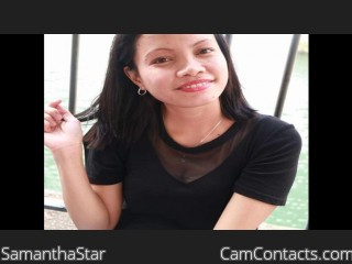 Webcam model SamanthaStar from CamContacts