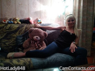 Webcam model HotLady848 from CamContacts