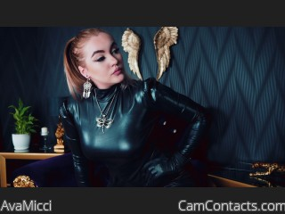 Webcam model AvaMicci from CamContacts