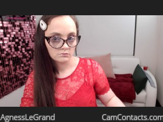 Webcam model AgnessLeGrand from CamContacts