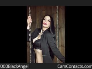 Webcam model 000BlackAngel from CamContacts