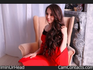 Webcam model ImInUrHead from CamContacts