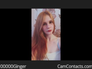 Webcam model 00000Ginger from CamContacts