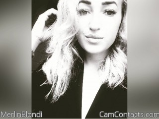 Webcam model MerlinBlondi from CamContacts