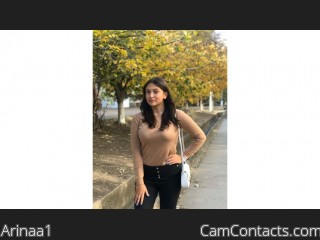 Webcam model Arinaa1 from CamContacts