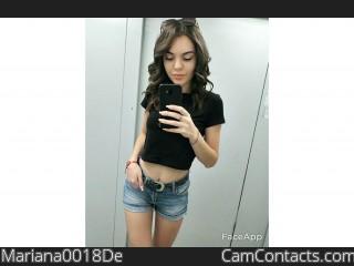 Webcam model Mariana0018De from CamContacts