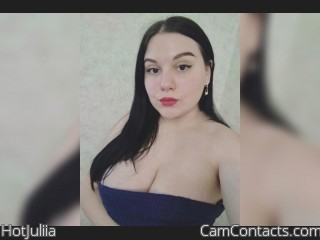 Webcam model HotJuliia from CamContacts