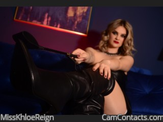 Webcam model MissKhloeReign from CamContacts