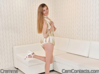 Webcam model Cremma from CamContacts