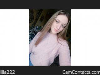 Webcam model lilia222 from CamContacts