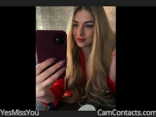 Webcam model YesMissYou from CamContacts