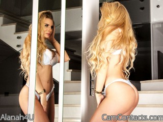 Webcam model Alanah4U from CamContacts