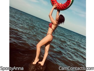 Webcam model SportyAnna from CamContacts