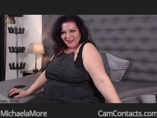 Webcam model MichaelaMore from CamContacts