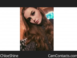 Webcam model ChloeShine from CamContacts