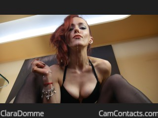 Webcam model ClaraDomme from CamContacts