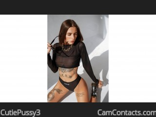 Webcam model CutiePussy3 from CamContacts