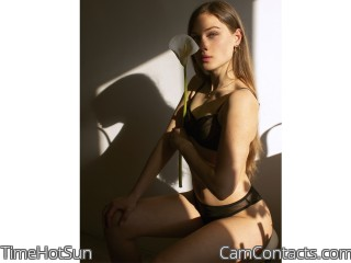 Webcam model TimeHotSun from CamContacts