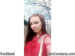 Webcam model frecklessl from CamContacts