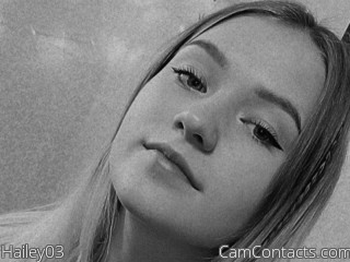 Webcam model Hailey03 from CamContacts