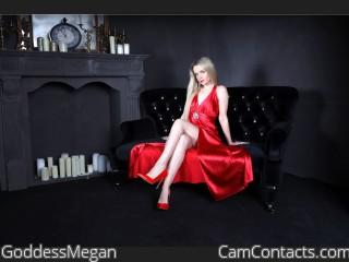 Webcam model GoddessMegan from CamContacts