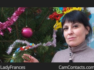 Webcam model LadyFrances from CamContacts