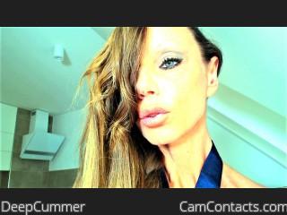 Webcam model DeepCummer from CamContacts