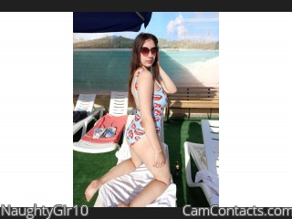 Webcam model NaughtyGIr10 from CamContacts