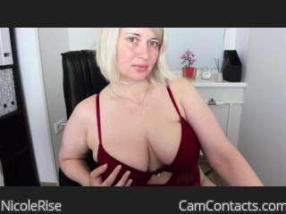 Webcam model NicoleRise from CamContacts