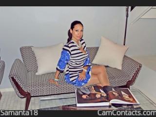 Webcam model Samanta18 from CamContacts