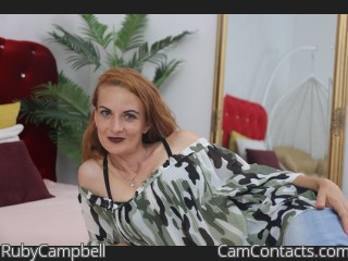 Webcam model RubyCampbell from CamContacts