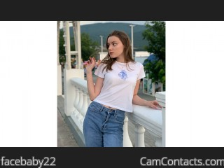 Webcam model facebaby22 from CamContacts