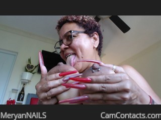 Webcam model MeryanNAILS from CamContacts